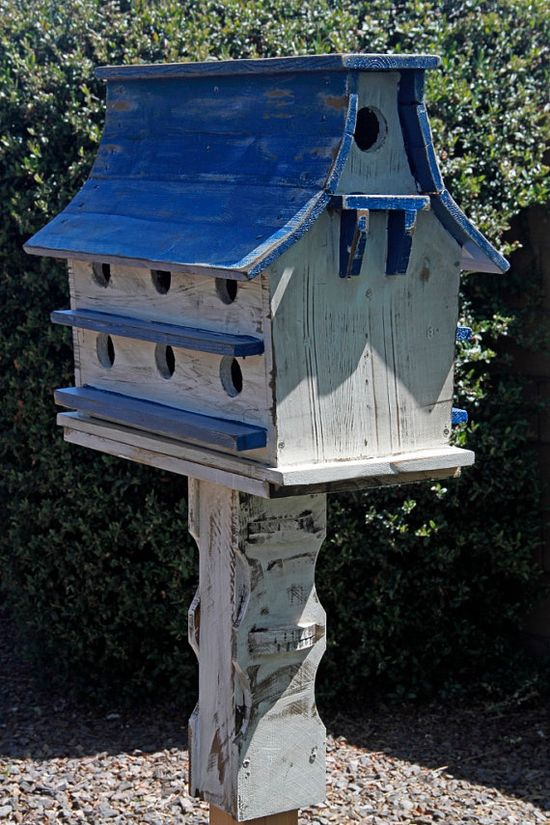 Purple Martin House, large birdhouse, functional birdhouse, rustic birdhouse, barn birdhouse,