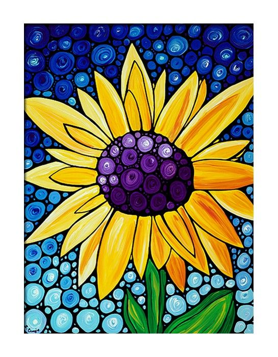 sunflower art  nice:)