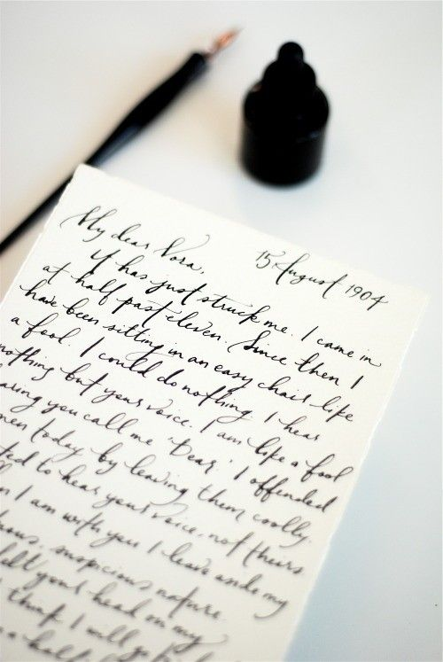 Handwritten letters are treasures.