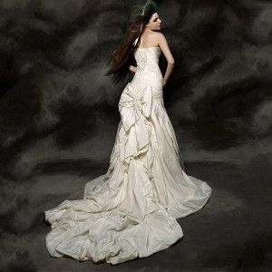 Mermaid divine ivory sexy wedding dress