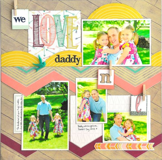 #papercraft #scrapbook #layout We Love Daddy ~NEW WP Recorded~ - Scrapbook.com