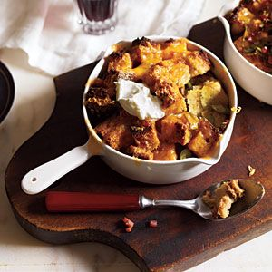 Savory Bread Pudding with Ham and Cheddar