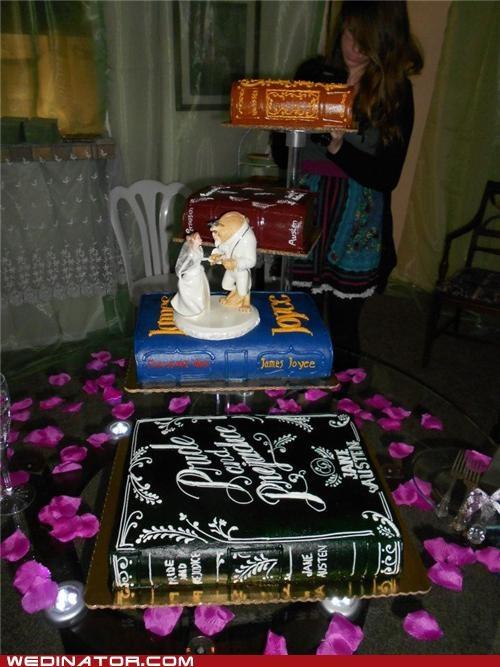 Bookworm Wedding Cake
