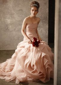 Vera Wang - love the shade of pink on this wedding gown