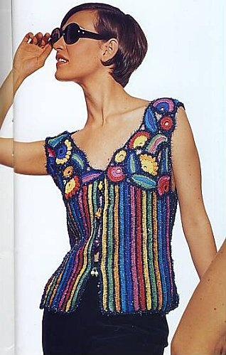 Explications gilet crochet Graphique - Le blog de Sophie Gelfi - Créations textiles