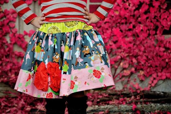 Valentines day Girls Skirt Sadie Hawkins // etsy.com