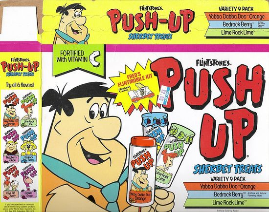 Flintstones Push Pops--very messy!