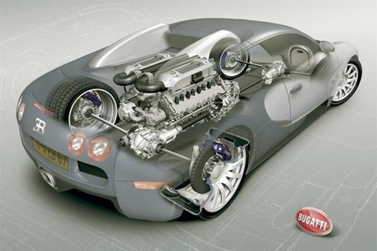 Bugatti Veyron x-ray