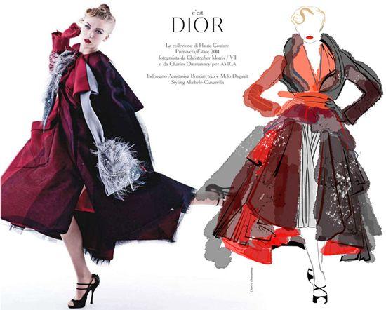 Fashion Illustration - Dior