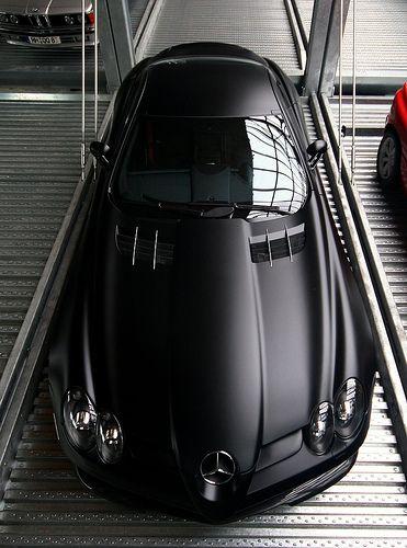 Matte black Benz