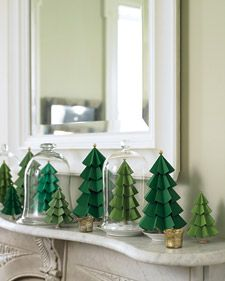 Paper tree tutorial for Christmas decorations.