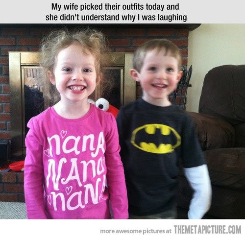A funny outfit coincidence…