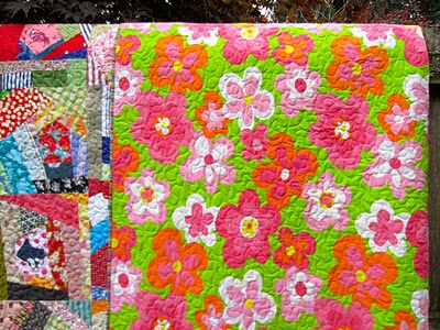 quilt back in vintage 70s fabric