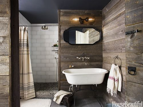 even without the wood, love the details of this bathroom