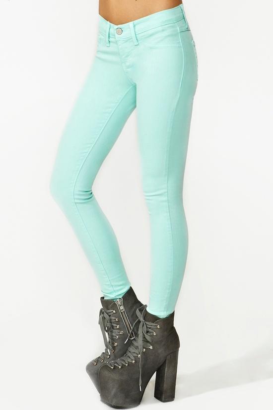 Dream Skinny Jeans in Mint