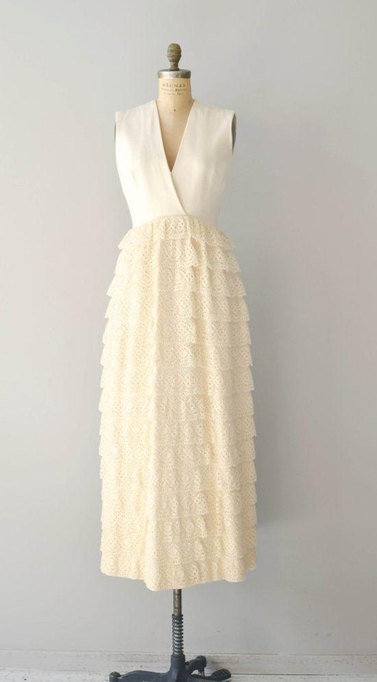 60s wedding dress / 60s dress / Valhalla gown