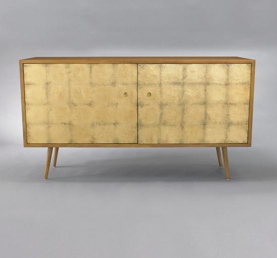 DwellStudio  Franklin Media Cabinet - Gold Leaf