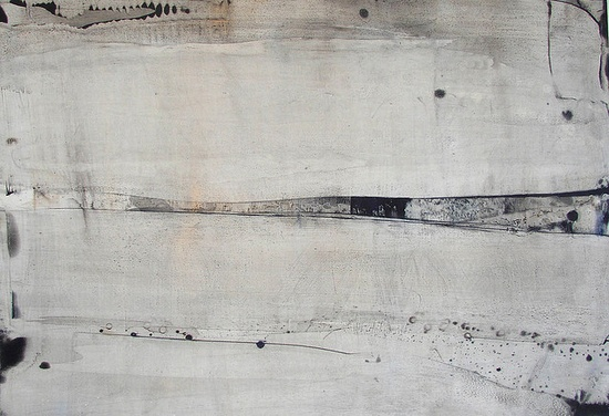 Anne Penman Sweet /      Abstract painting using chemical reactions and transparent glazes./     70cm x 100cm/     Oil on gesso panel