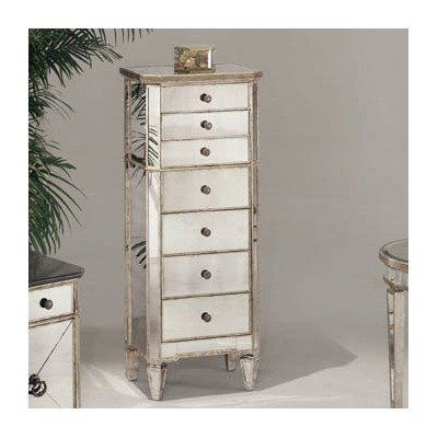 Basset Mirror 8311-227 Borghese Linen Chest by Bassett Mirror. $820.00. Hardwood solids. Belongs to Borghese Collection by Bassett Mirror Company. Seven Drawers. Mirrored Bath Linen Chest. Handworked and beveled antique mirror over veneers. 8311-227 Features: -Mirrored kent-end legs.-Fully beveled scratch-resistant antique silvered mirror panels. Color/Finish: -Lovely antique silver finish. Collection: -Borghese collection.. Save 21% Off!