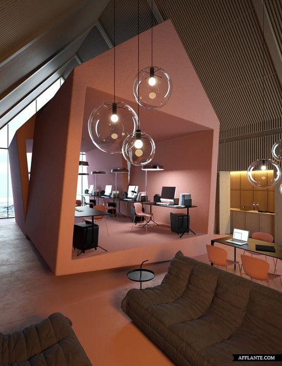 Amazing 'Attic' Office :: Vasiliy Butenko