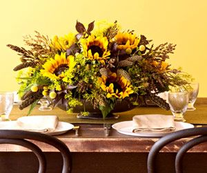 Freshen up any room with autumn flower arrangements