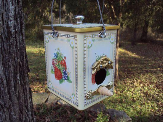 vintage tin bird house