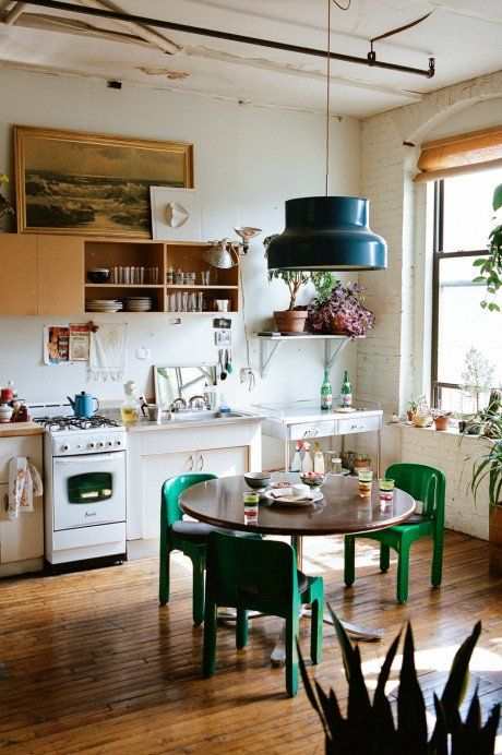 Cute boho chic kitchen