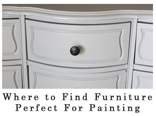 Where to find furniture to paint