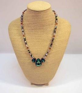 DIY teardrop necklace #jewelry