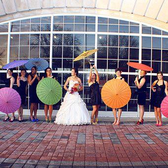 rainbow wedding bridesmaids