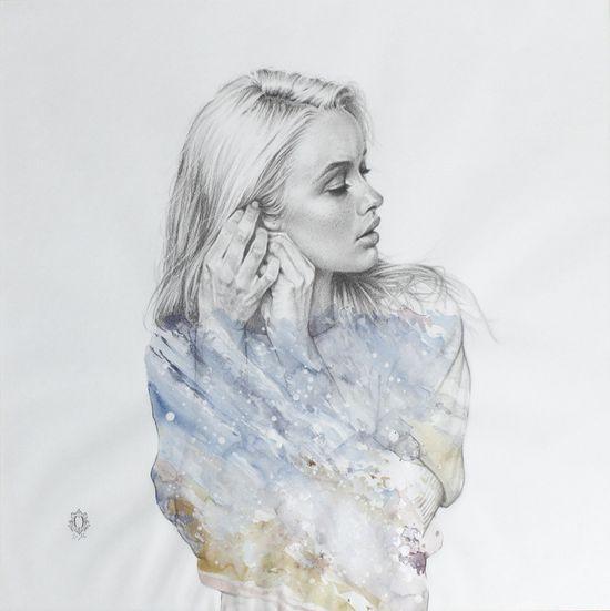 "Saatchi Online Artist: Oriol Angrill Jordà; Graphite, Drawing ""Shellsea Blue"