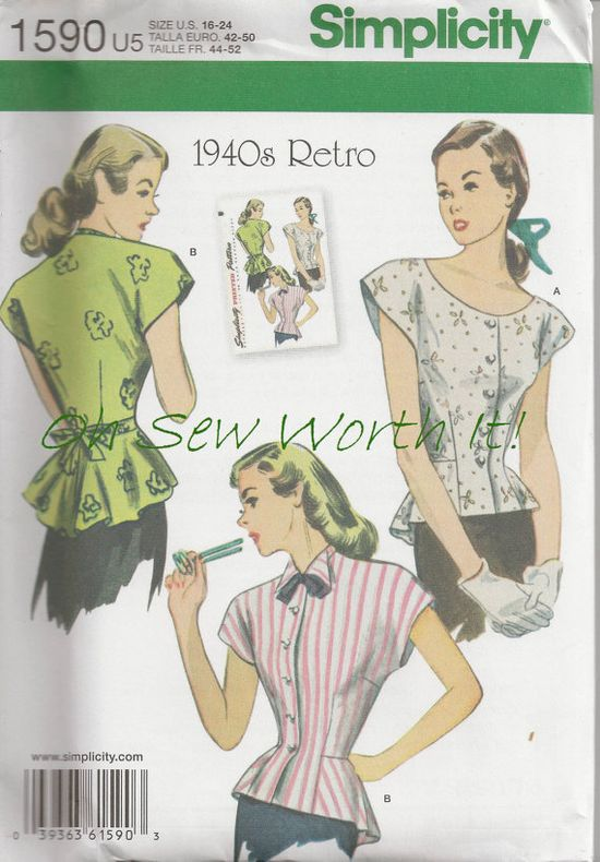 Simplicity 1590 Commercial Sewing Pattern Sewing by OhSewWorthIt, $5.95