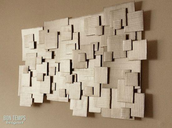 How-To: Cardboard Wall Art