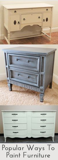 Popular ways to paint furniture, a lot of articles and tips on painting for DIYer's