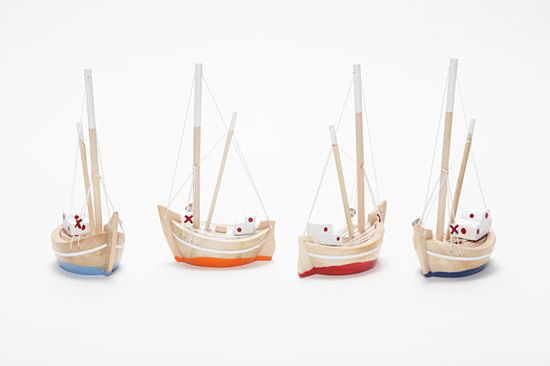 Collection of  4 Wooden Boats