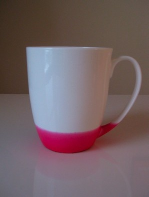 This is from Etsy, but also inspiration for painting/dip dying a white cup