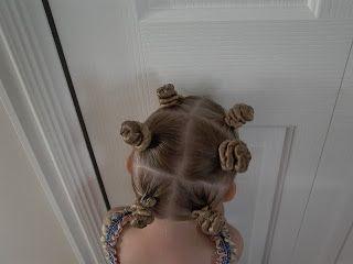 Little Girl's Hairstyles – Twist Buns or Alien Buns