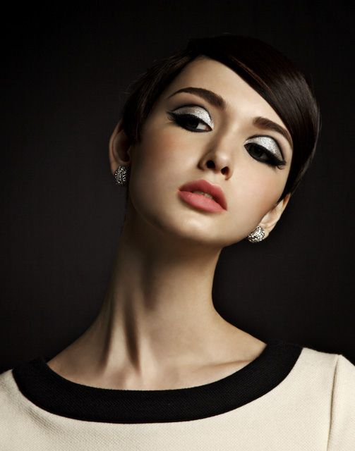 '60's Mod make-up.