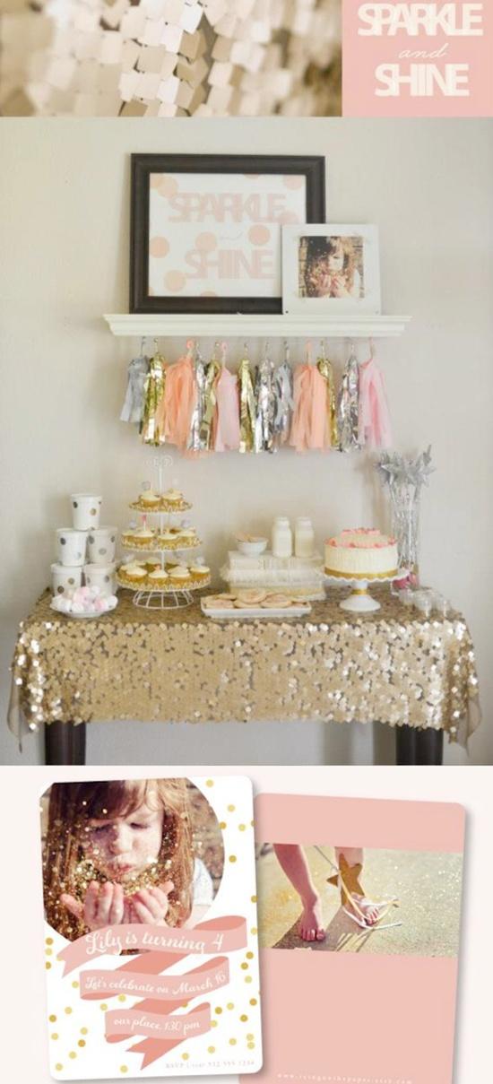 Sparkle and Shine themed birthday party via Kara's Party Ideas