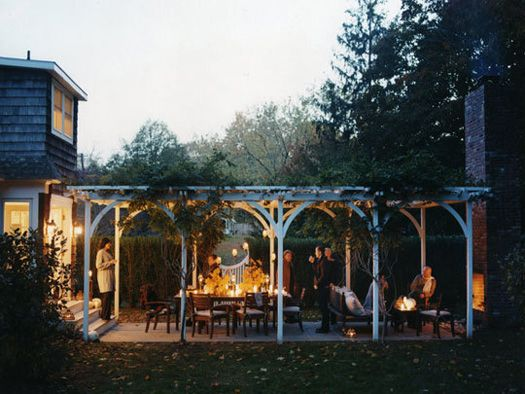 I love this patio and arbor combination