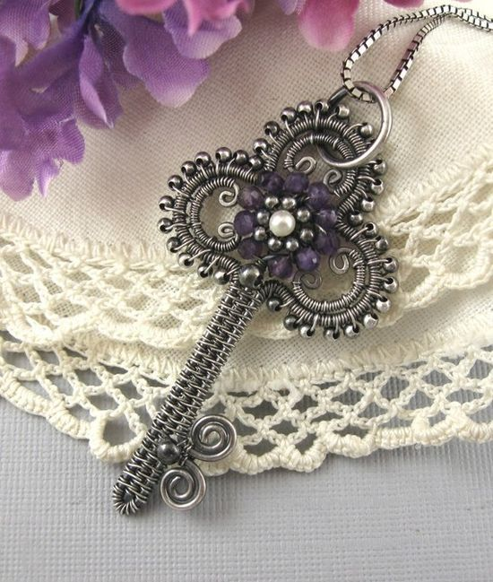 Jewelry TutorialVictorian Key Pendant Wire by wickwirejewelry, $10.00