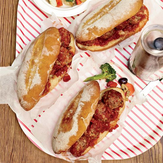 Meatball-and-Provolone Subs // More Tasty Sandwiches: www.foodandwine.c... #foodandwine