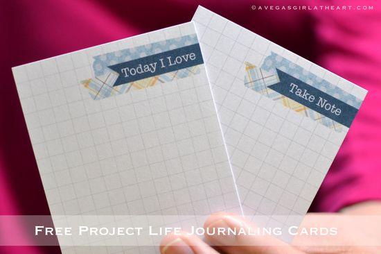 Free Printable journal cards