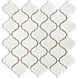 Moroccan inspired white tile