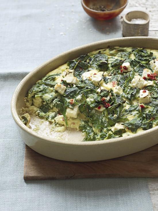 Mediterranean Baked Spinach.