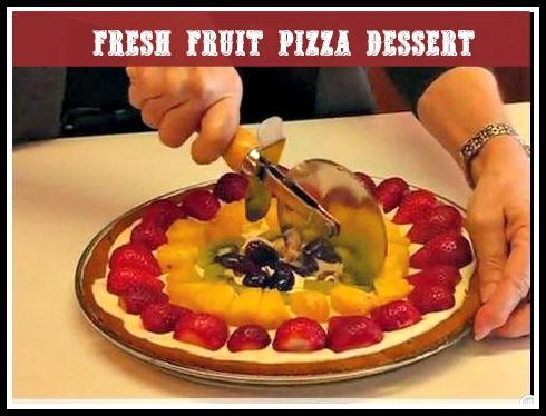 Fresh Fruit Pizza Dessert for Kids. It tastes as good as it looks. #dessert #pizza