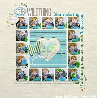 Scrapbook page layout with lots of photos!