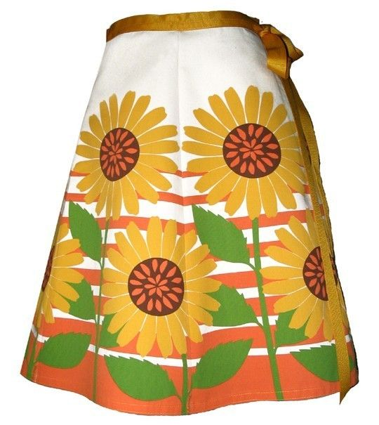 sunflower skirt  yellow  giant flowers and by madewithlovebyhannah, $62.00