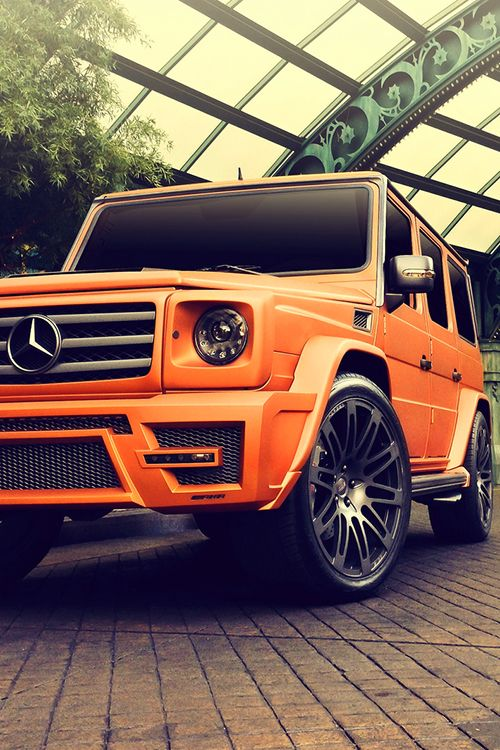 #G Class orange car