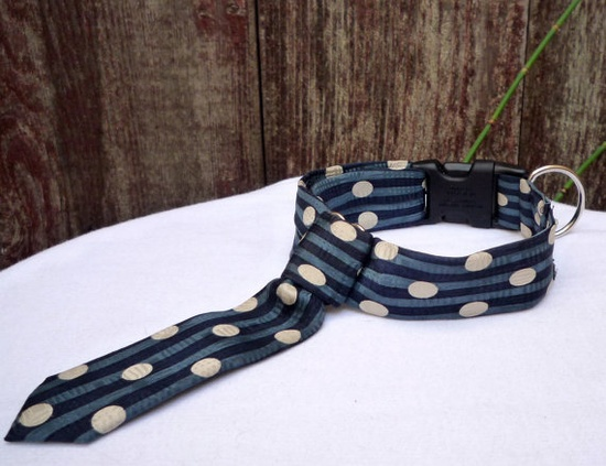 thwap - vintage tie collars for the fashionable pup